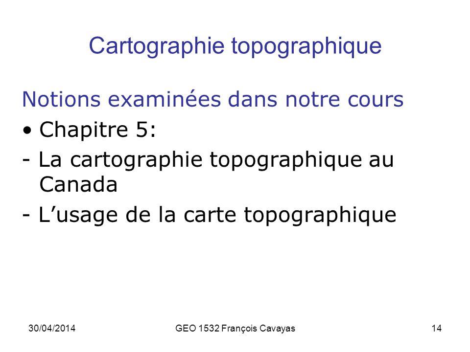 Cartographie topographique