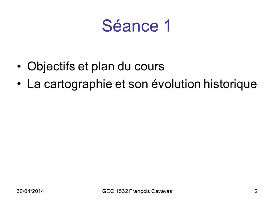 Séance 1 Objectifs et plan du cours