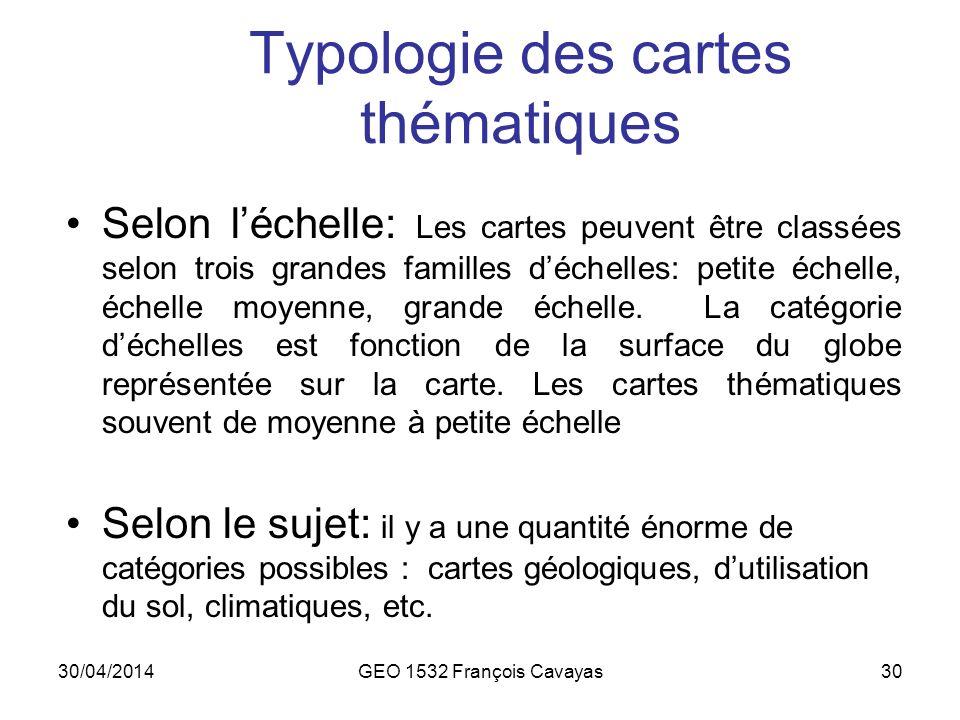 Typologie des cartes thématiques