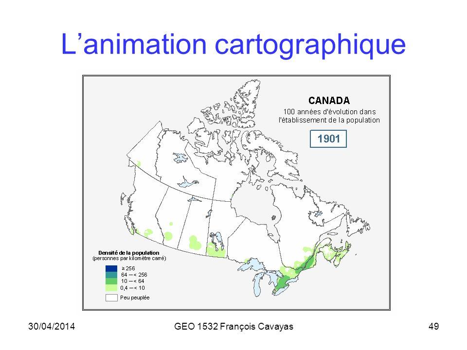 L'animation cartographique