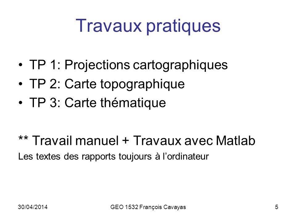 Travaux pratiques TP 1: Projections cartographiques