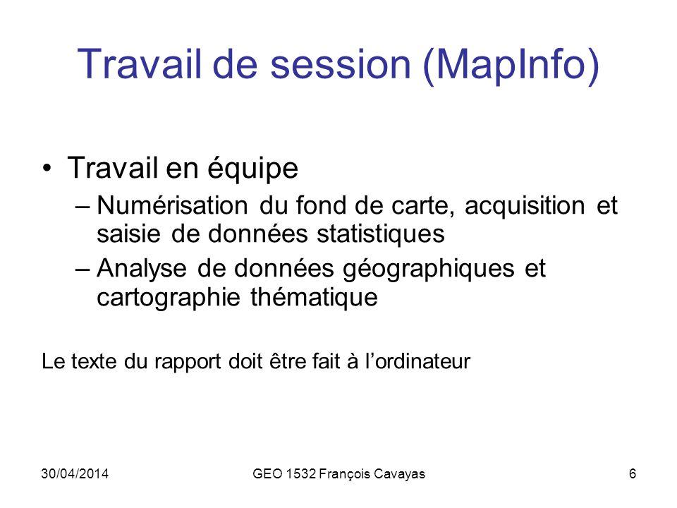 Travail de session (MapInfo)