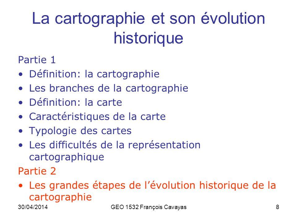 La cartographie et son évolution historique