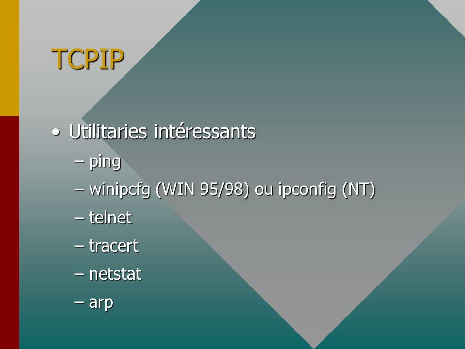 TCPIP Utilitaries intéressants ping