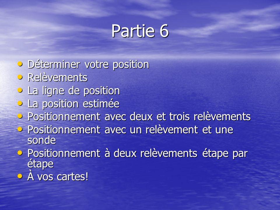 Partie 6 Déterminer votre position Relèvements La ligne de position