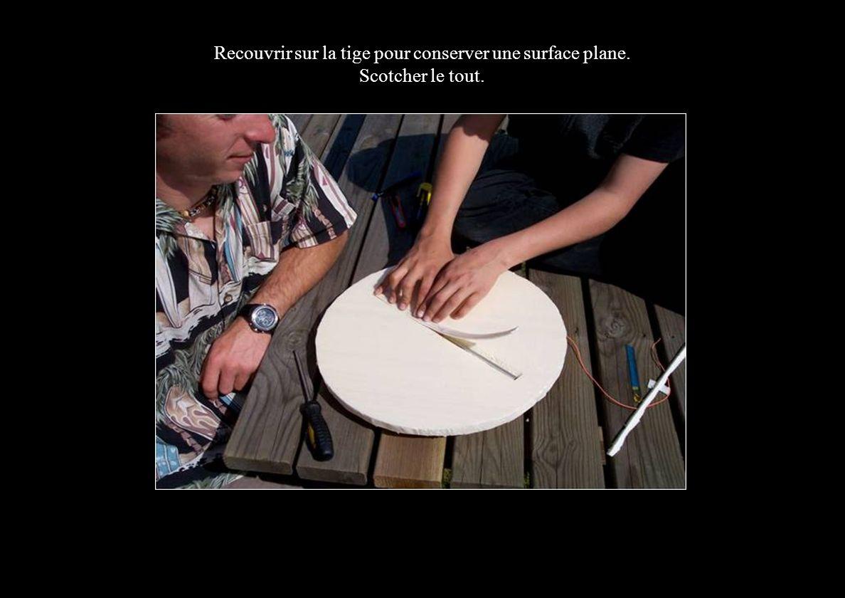 Recouvrir sur la tige pour conserver une surface plane