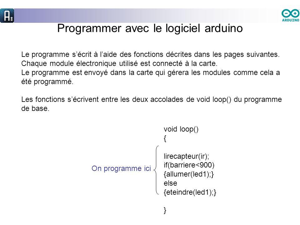 Programmer avec le logiciel arduino