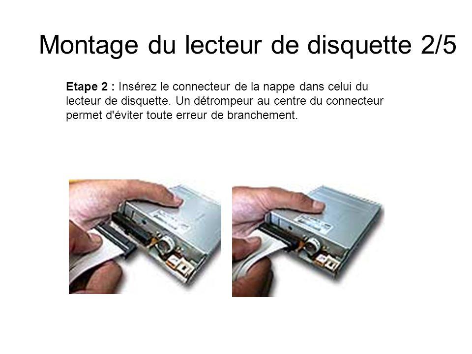 Montage du lecteur de disquette 2/5