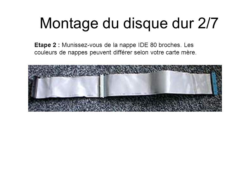 Montage du disque dur 2/7Etape 2 : Munissez-vous de la nappe IDE 80 broches.