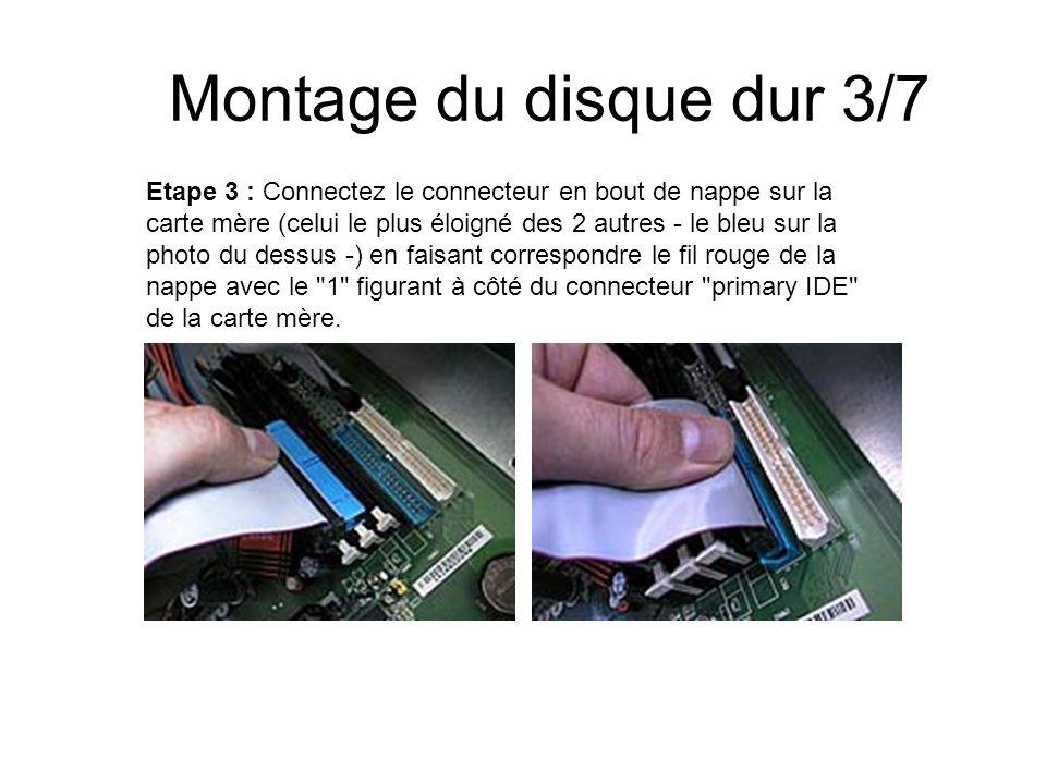 Montage du disque dur 3/7