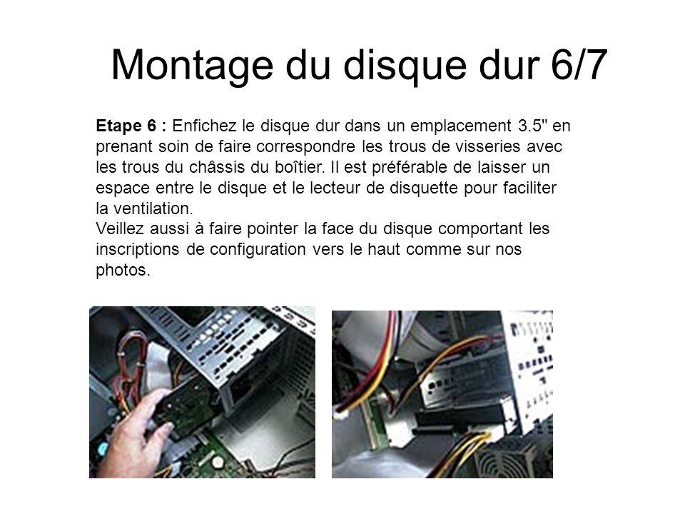 Montage du disque dur 6/7