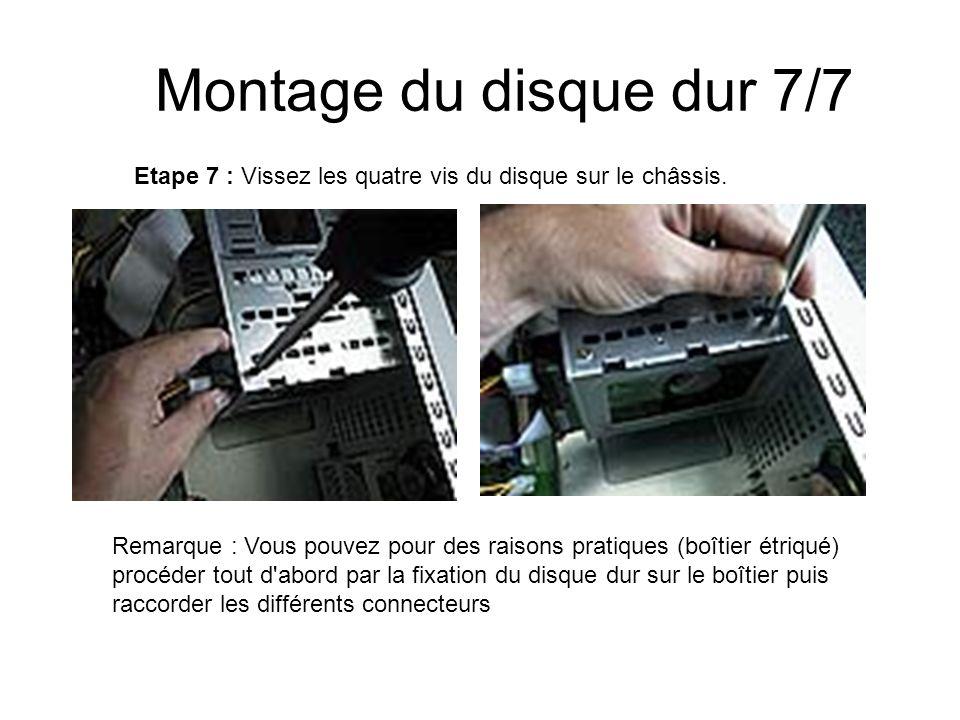 Montage du disque dur 7/7 Etape 7 : Vissez les quatre vis du disque sur le châssis.