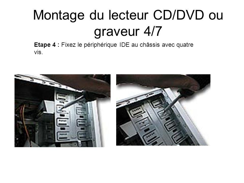Montage du lecteur CD/DVD ou graveur 4/7