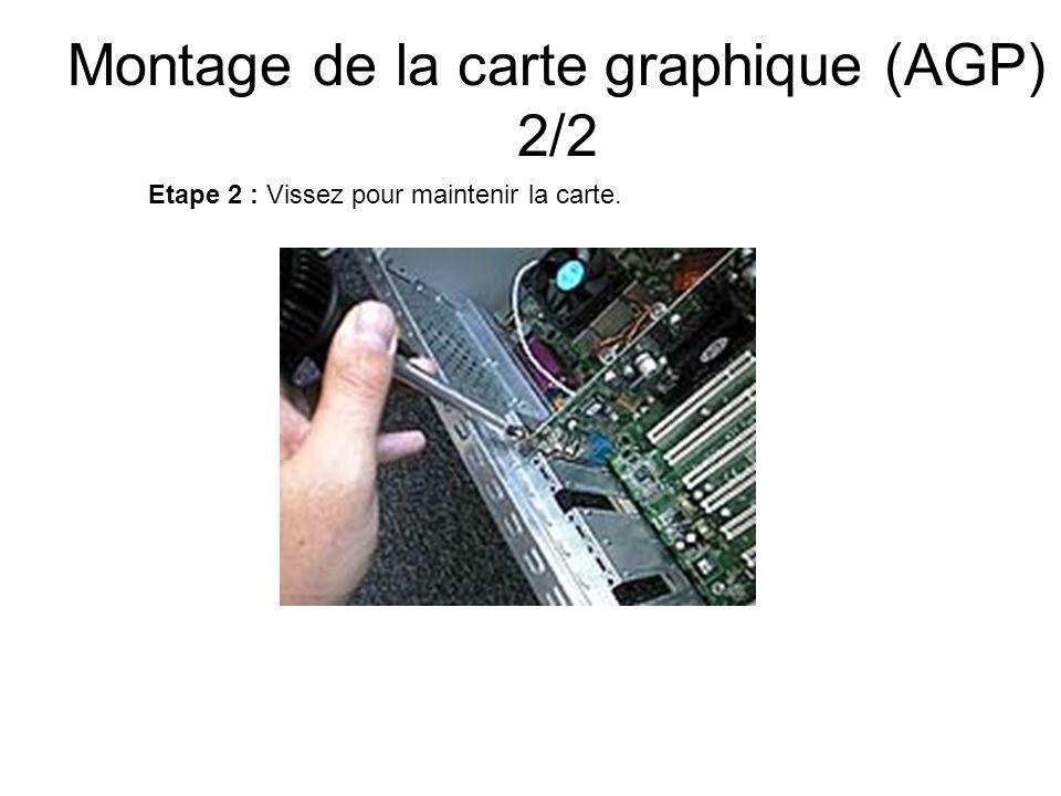 Montage de la carte graphique (AGP) 2/2