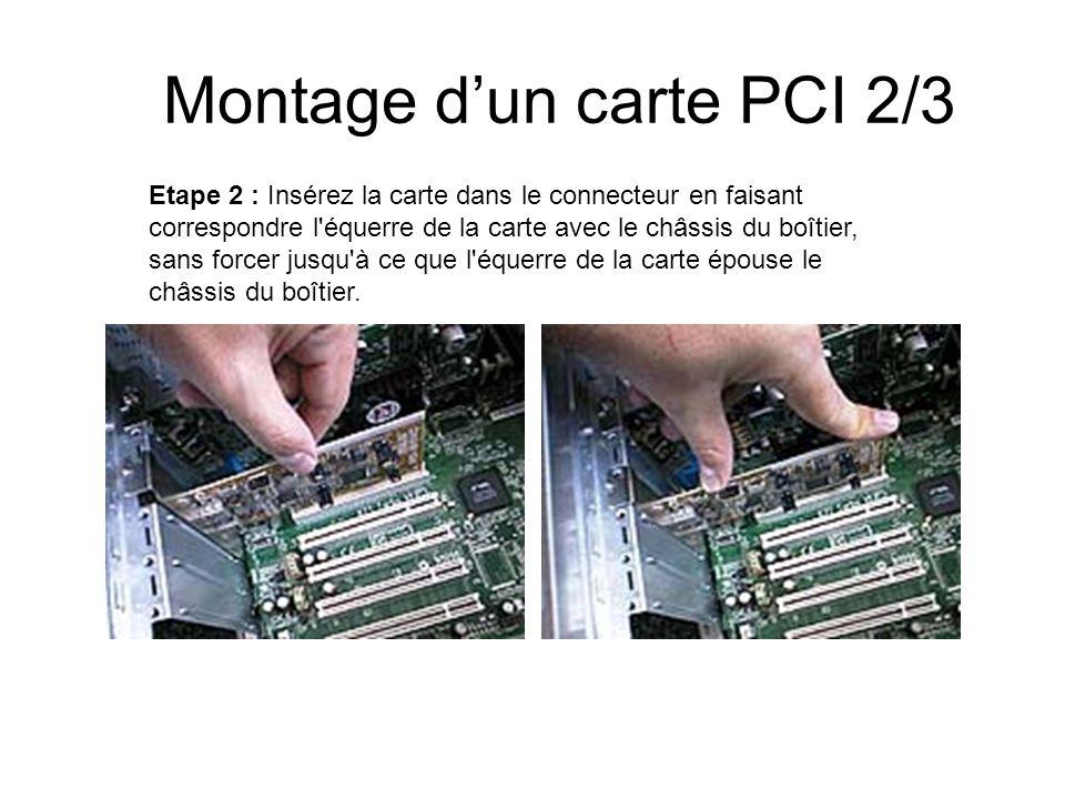 Montage d'un carte PCI 2/3