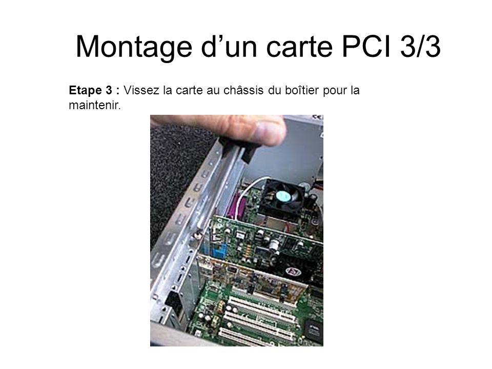 Montage d'un carte PCI 3/3