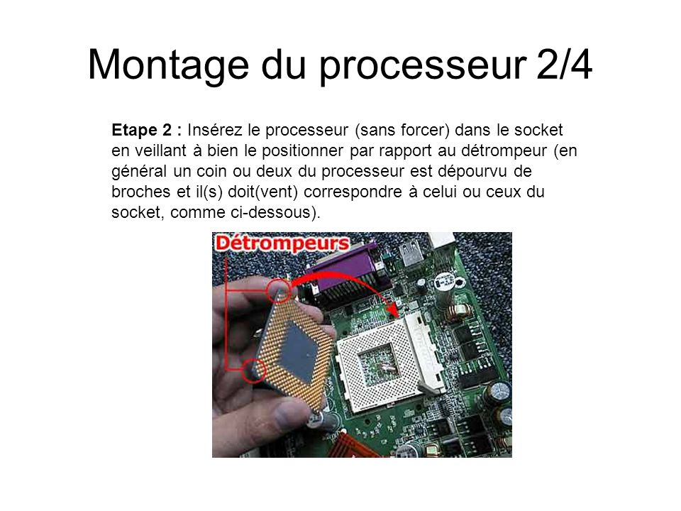 Montage du processeur 2/4