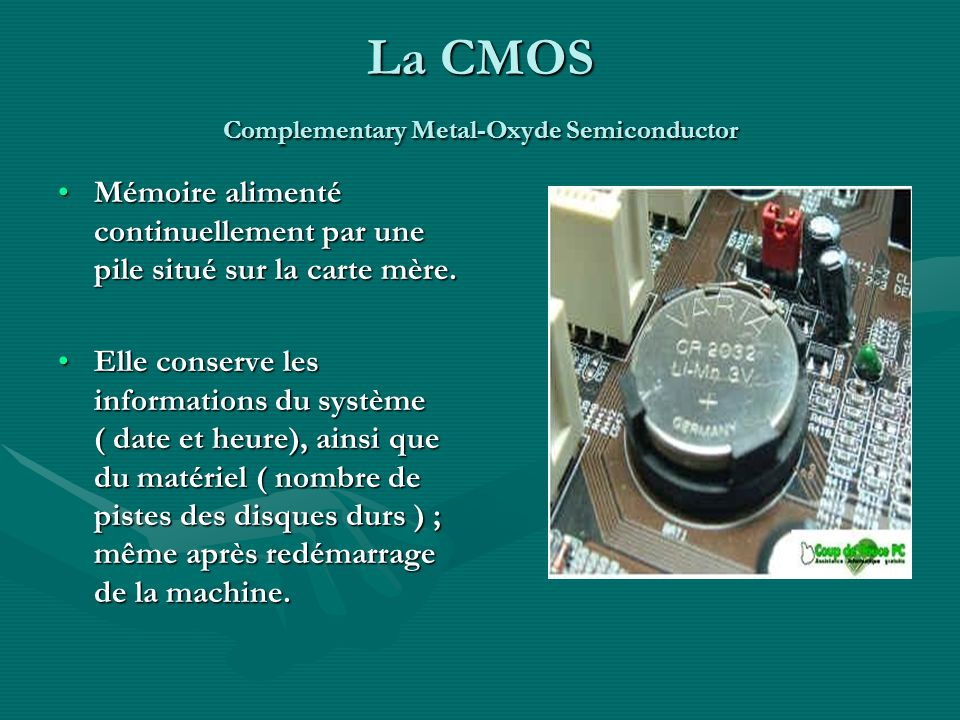 La CMOS Complementary Metal-Oxyde Semiconductor