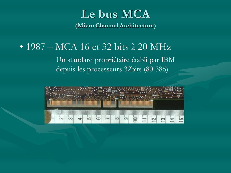 Le bus MCA (Micro Channel Architecture)
