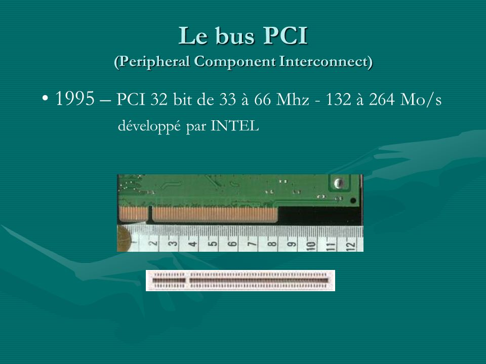 Le bus PCI (Peripheral Component Interconnect)