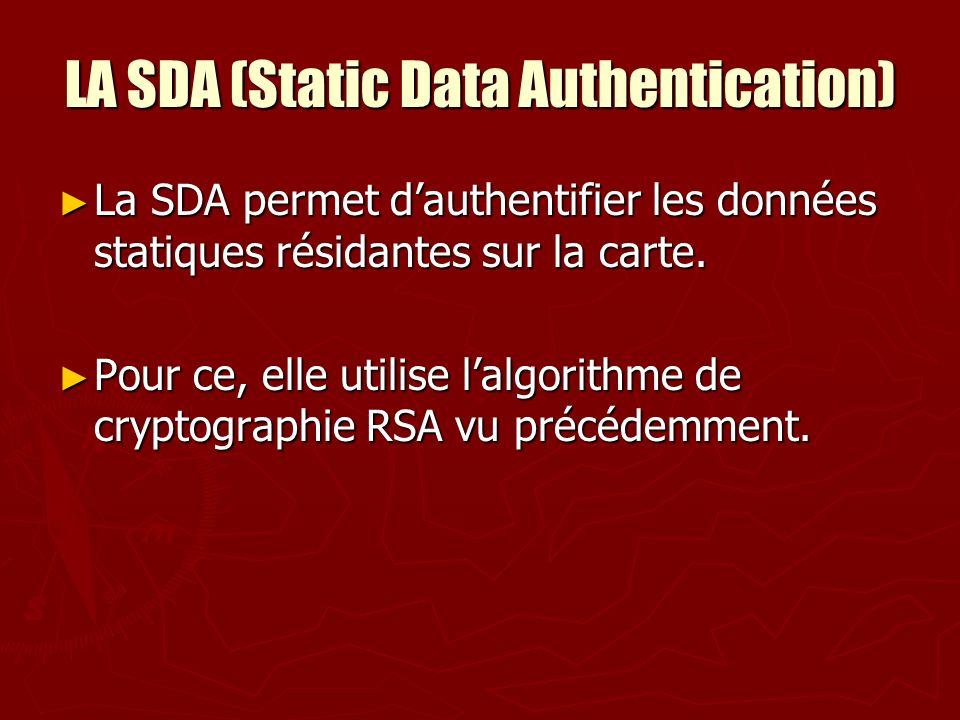 LA SDA (Static Data Authentication)