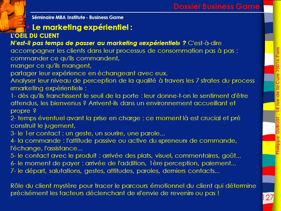 Le marketing expérientiel :