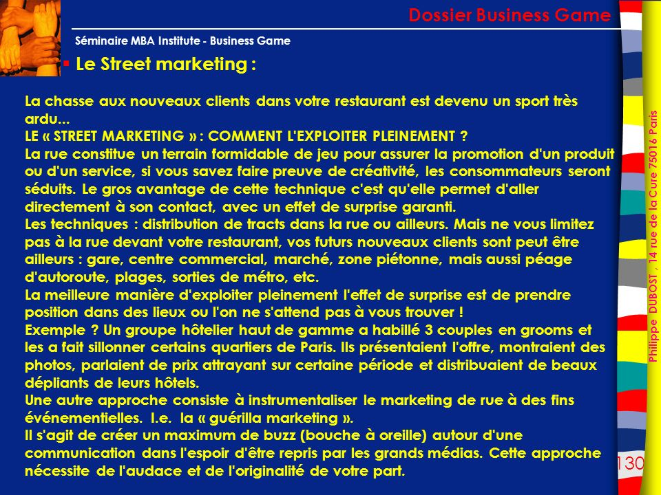 Dossier Business Game Le Street marketing :