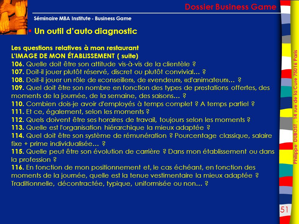 Un outil d'auto diagnostic