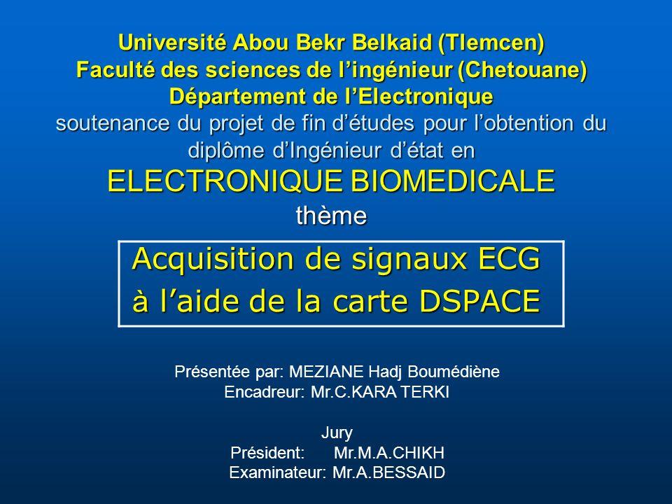 Acquisition de signaux ECG à l'aide de la carte DSPACE