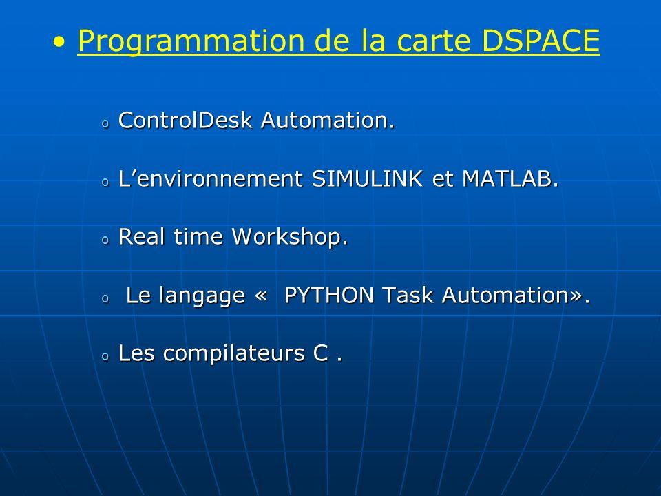 Programmation de la carte DSPACE