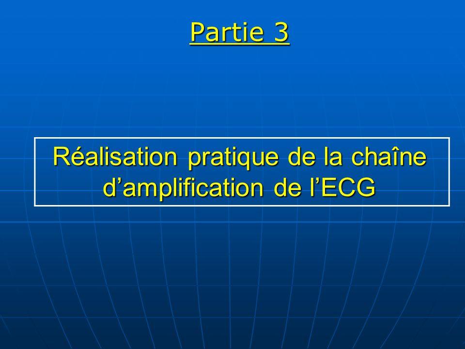 Partie 3 Réalisation pratique de la chaîne d'amplification de l'ECG