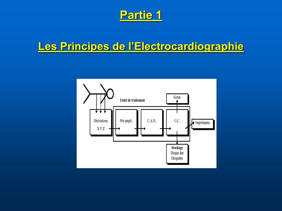 Partie 1 Les Principes de l'Electrocardiographie