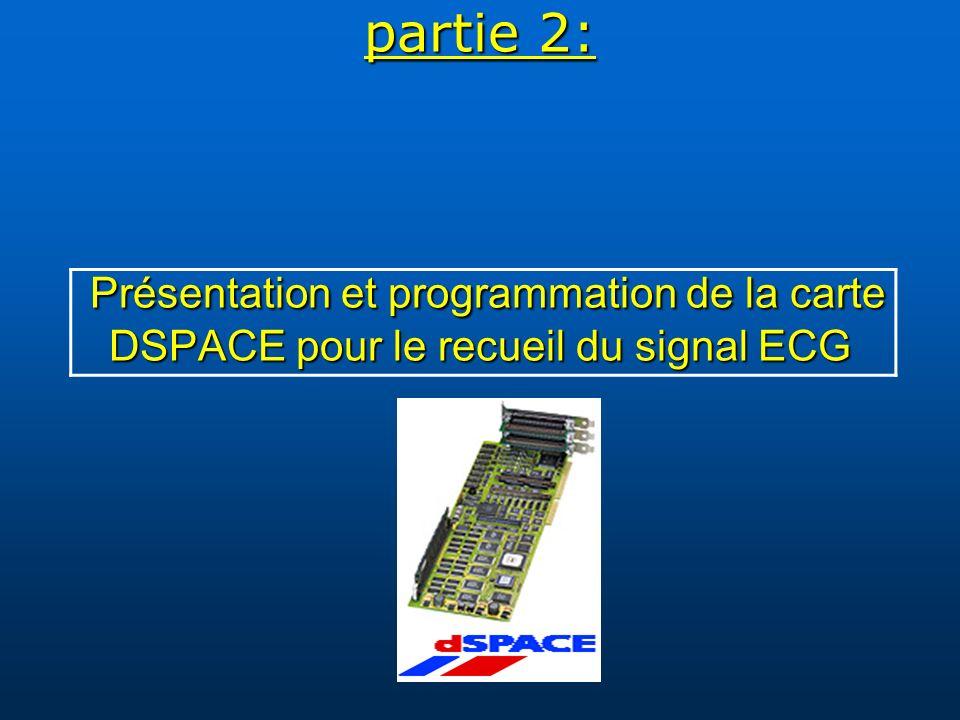 partie 2: Présentation et programmation de la carte DSPACE pour le recueil du signal ECG