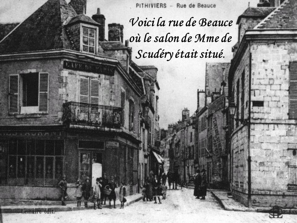 Voici la rue de Beauce où le salon de Mme de Scudéry était situé.