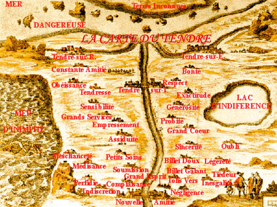 LA CARTE DU TENDRE