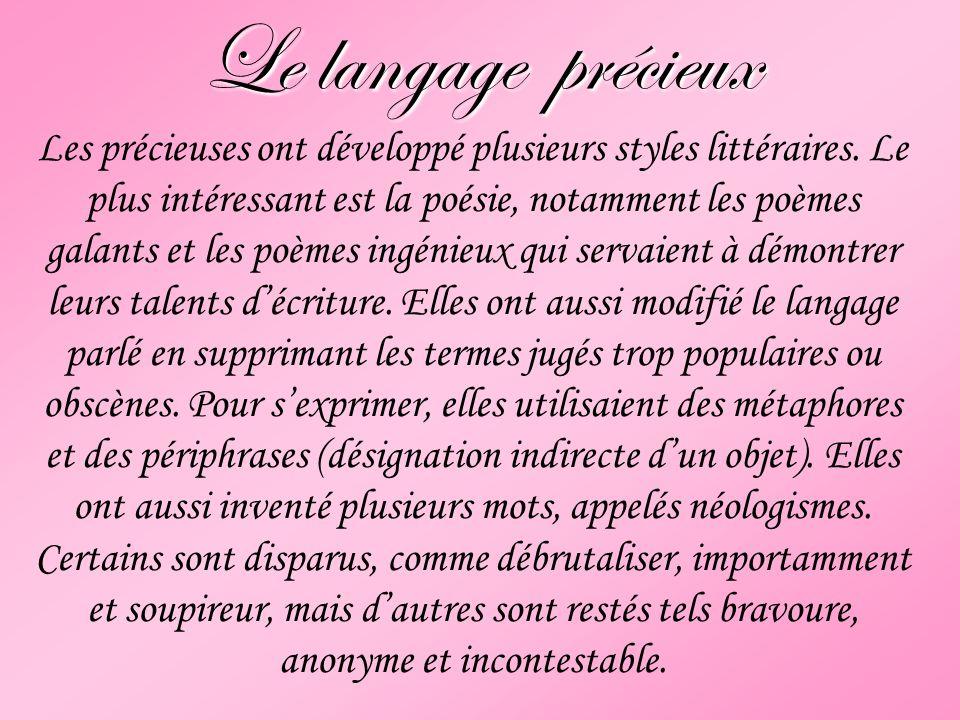 Le langage précieux