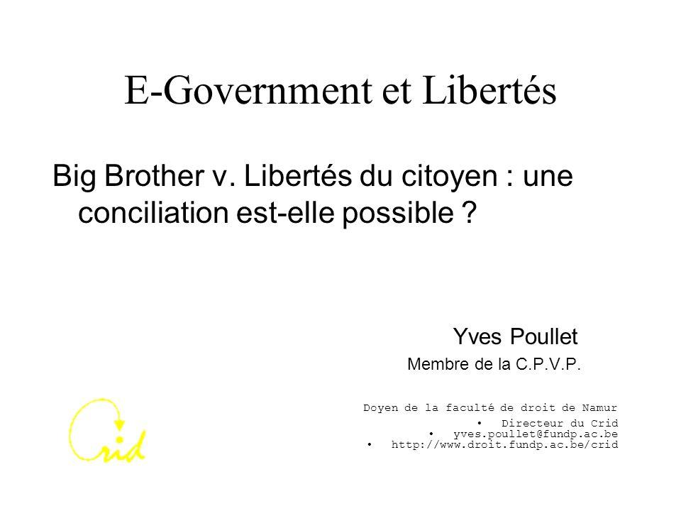 E-Government et Libertés