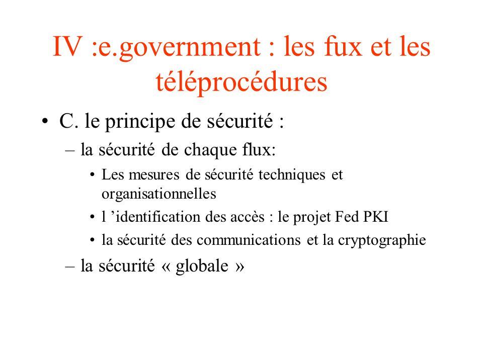 IV :e.government : les fux et les téléprocédures
