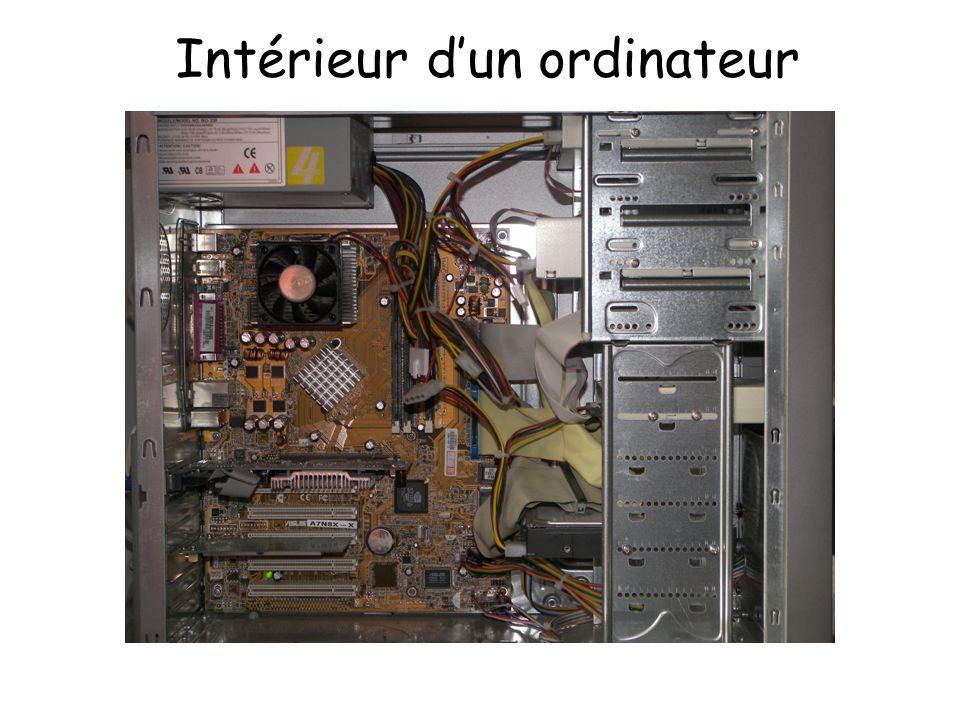 Intérieur d'un ordinateur