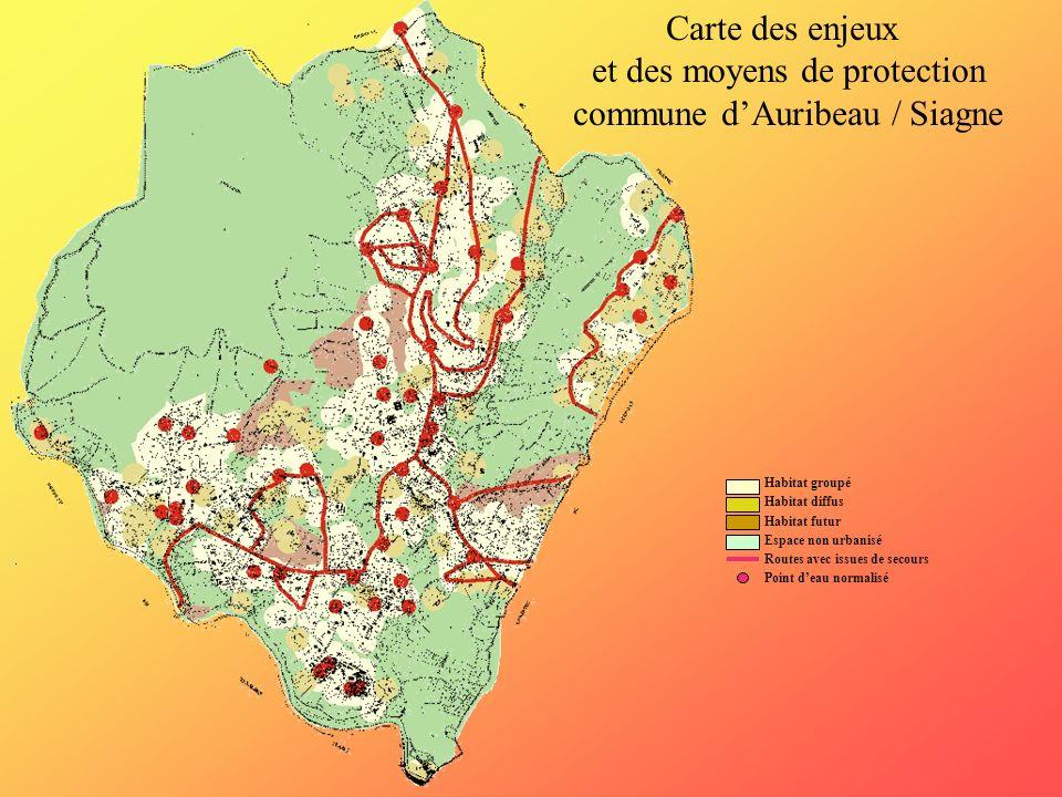 et des moyens de protection commune d'Auribeau / Siagne