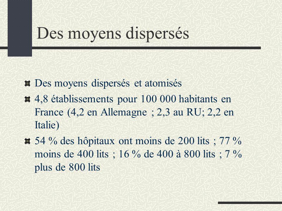 Des moyens dispersés Des moyens dispersés et atomisés