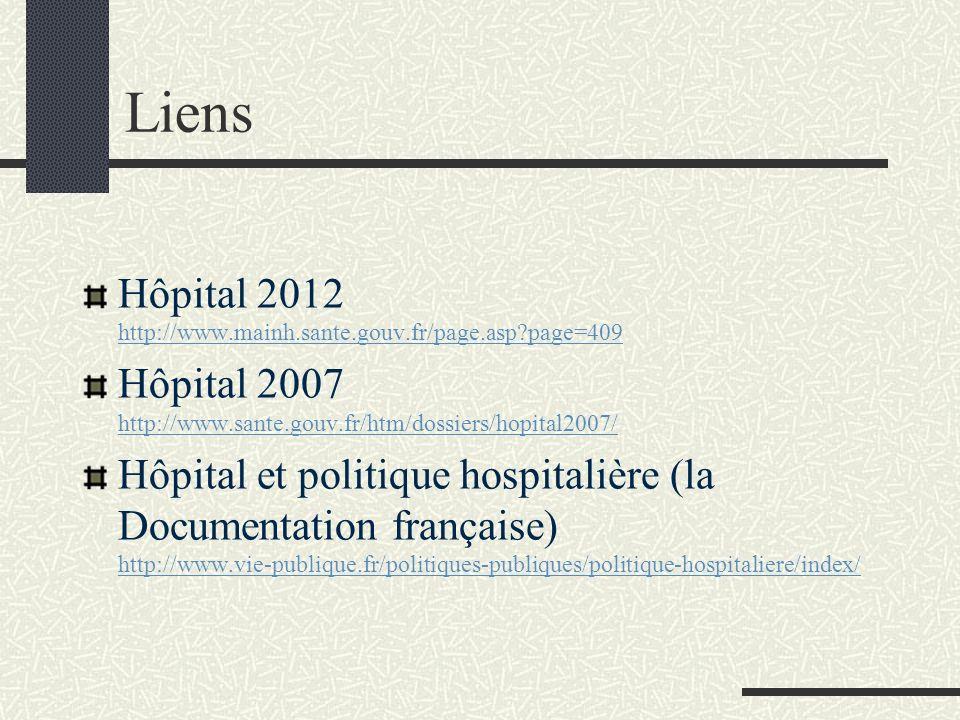 Liens Hôpital 2012 http://www.mainh.sante.gouv.fr/page.asp page=409