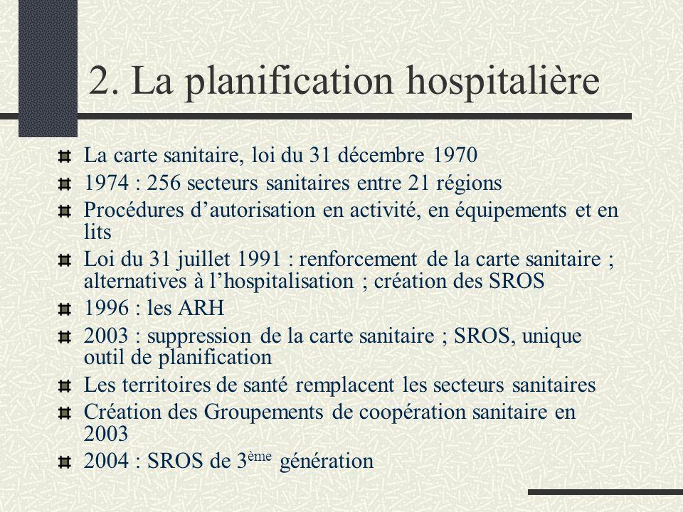 2. La planification hospitalière