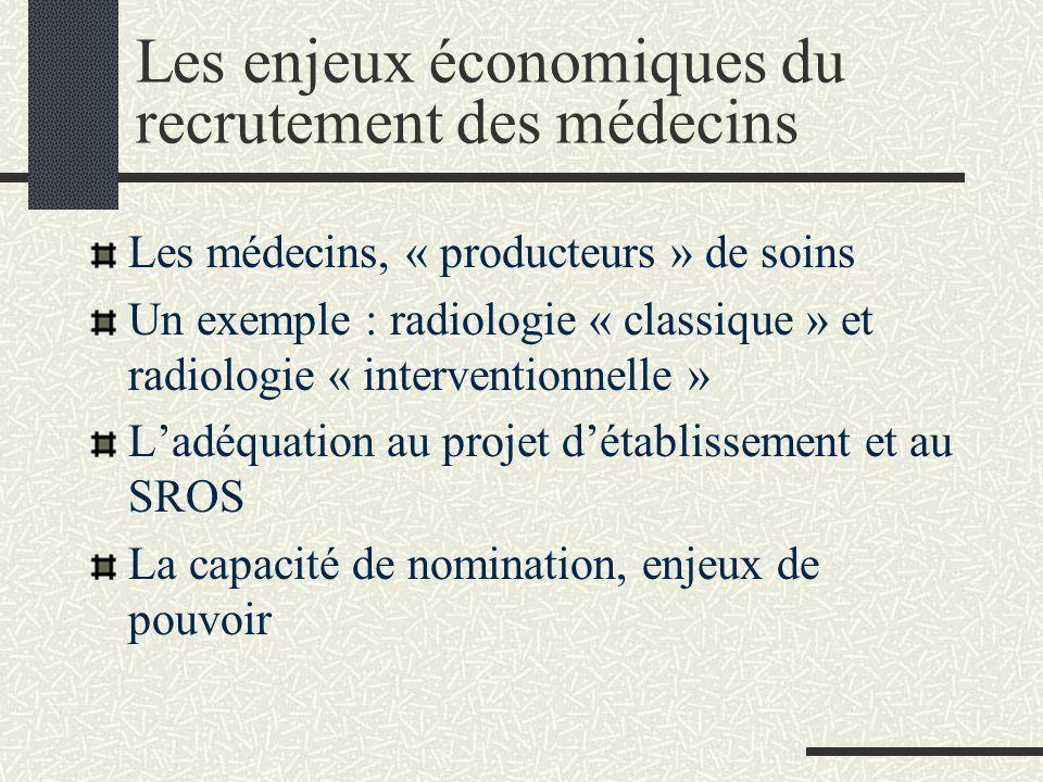 Les enjeux économiques du recrutement des médecins