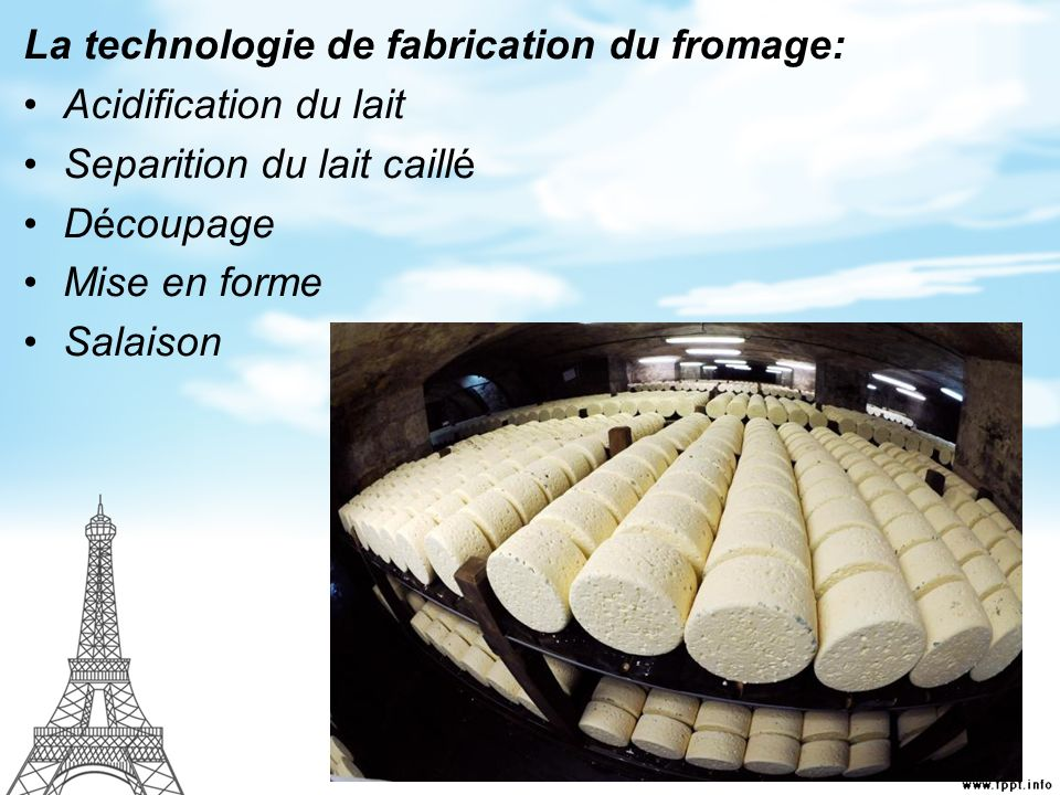 La technologie de fabrication du fromage: