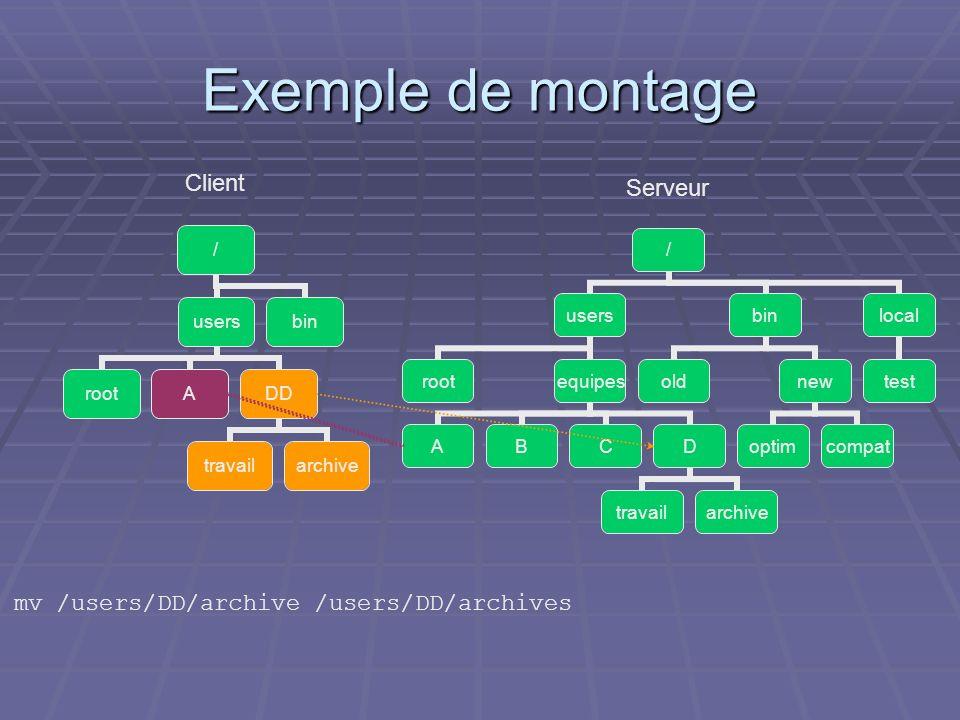 Exemple de montage Client Serveur