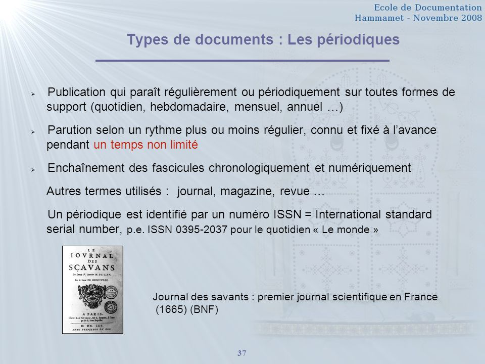Types de documents : Les périodiques