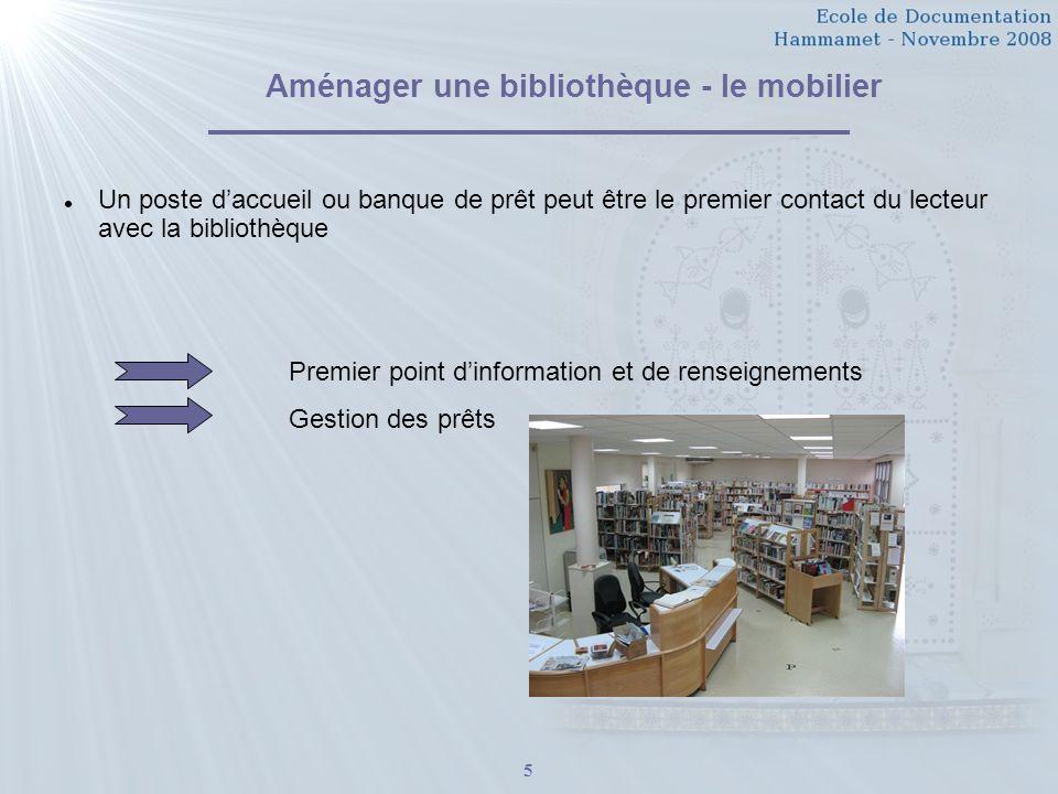Aménager une bibliothèque - le mobilier