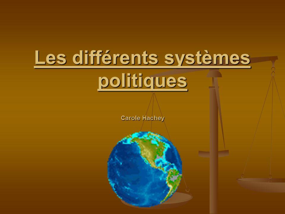 Les différents systèmes politiques Carole Hachey