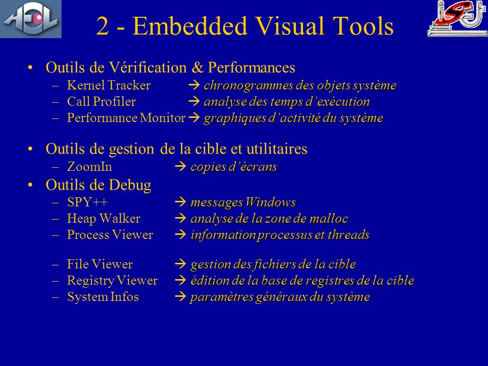 2 - Embedded Visual Tools
